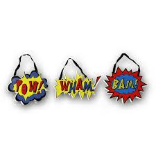 Zoomie Kids 3 Piece Superhero Pow Wham Bam Wall Decor Set Wayfair