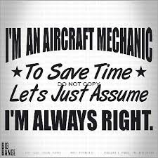 Aircraft Mechanic Ninja Vinyl Decal Sticker Funny Car Truck Window Trades Humor Ebay