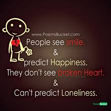 people see smile and predict sad quotes