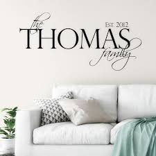 Family Established Name Wall Decal Linden Fields Last Name Decal Home Decor Monogram Decal Fa Wall Decals Living Room Family Wall Decals Name Wall Decals