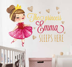 Princess Sleeps Here Personalized Sticker Tenstickers