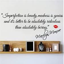 Decalgeek Dg Miib 1 Imperfection Is Beauty Marilyn Monroe Wall Sticker Quote Decal Art Decor Childrens Wall Decor Amazon Com