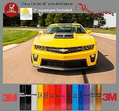 Chevy Camaro Rs Ss Lt1 Windshield Text Banner Vinyl Decal Sticker 3m Squeegee 15 00 Picclick