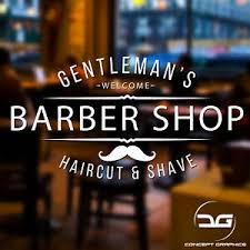Gentleman S Barber Shop Window Wall Door Hair Salon Vinyl Decal Sticker Sign Ebay