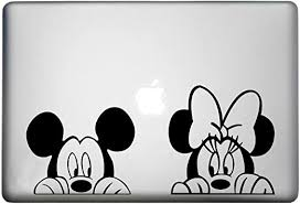 Amazon Com Walt Disney Mickey Mouse Sticker Macbook Air Pro Decal Is A Mickey Mouse Decal Laptop Size 11 12 13 And 15 Inch Looks Great With Your Mick Minnie Peeking Theme Many