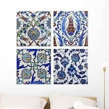 Turkish Wall Tiles Collage Wall Decal Wallmonkeys Com