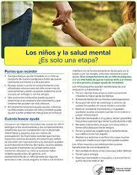 nimh los niños y la salud mental