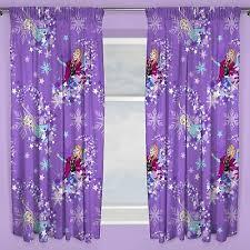 Disney Frozen Snowflake Curtains 66 X 72 Drop Kids Bedroom Curtains New 5055285408305 Ebay