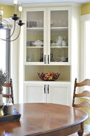 built in corner china cabinet in dining