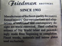 friedman brothers gilt wall mirror