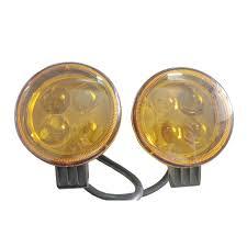 Nơi bán Đèn ôtô Led trợ sáng 4 bóng tròn màu vàng ( Giá 1 cặp) giá rẻ nhất  tháng 08/2020