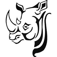 Rhino Rhinoceros Vinyl Decal Sticker