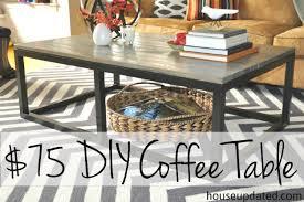 build a diy industrial coffee table