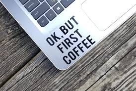 Decal Quote Ok But First Coffee Laptop Decal Laptop Sticker Phone Decal Phone Sticker Car Sticker Car Decal Window Decal Window Sticker Sold By Stickersforyouall On Storenvy