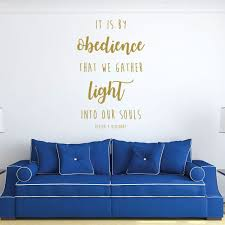 christian quotes wall decals it is by obedience that we gather