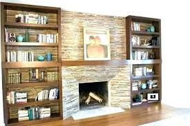 bookcase fireplace ins around shelves