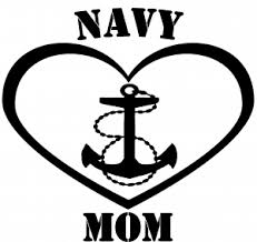 Navy Mom Heart Anchor Car Or Truck Window Decal Sticker Or Wall Art Decalsrock