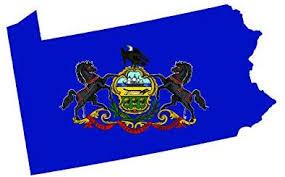 Amazon Com Fagraphix Pennsylvania State Shaped Flag Sticker Self Adhesive Vinyl Decal Pa 5 00 Wide Automotive