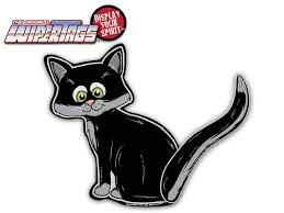 Black Cat Wagging Waving Tail Wipertags For Car Rear Wiper Blades Wipertags