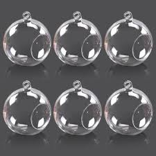 hanging clear glass globe ball candle