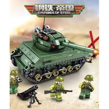 Đồ chơi xếp hình lego xe tăng + lính ngộ nghĩnh cho bé