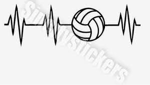 Volleyball Heartbeat Lifeline Car Window Decal Buy 3 Get 1 Etsy