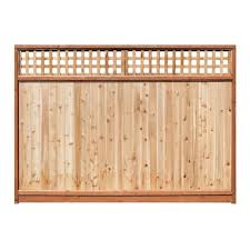 Lattice Top Wood Fencing At Lowes Com