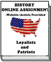Patriot And Loyalist Writing Worksheets Teaching Resources Tpt