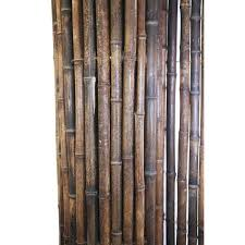 Shop Black Bamboo Panel Fence For Backyard And Garden 3 Ft H X 8 Ft L X 1 In D Overstock 13839496