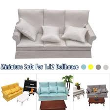 1 12 Dollhouse Miniature Furniture Sofa And Pillow Living Room Kids Play Toy Buy At A Low Prices On Joom E Commerce Platform