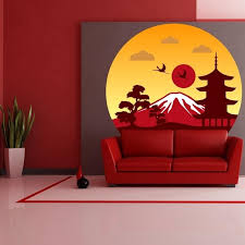 Shop Sun Fuji Japan Full Color Wall Decal Sticker K 367 Frst Size 40 X40 Overstock 20903841
