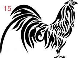 Tribal Gamefowl Rooster Decal Etsy In 2020 Rooster Tattoo Rooster Stencil Rooster Art