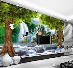 3d Wallpaper High End Custom Mural Non Woven Wall Sticker 3 D Crane Waterfall Tree Painting Photo 3d Wall Room Murals Wallpaper Wallpapers Gratis Wallpapers Hd From Zeze55 16 92 Dhgate Com