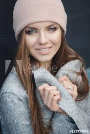 model looks beautiful makeup long red