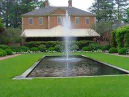 fountain in front of the spa gardens