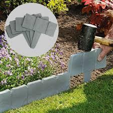 grey stone slab effect garden border