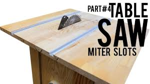 Homemade Table Saw Part 4 Miter Slots Using T Tracks Router Guide Youtube