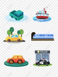 cartoon cute vector travel transport