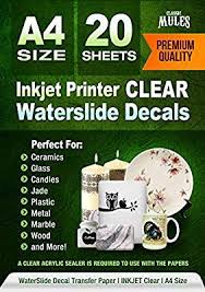 Amazon Com Premium Waterslide Decal Paper Inkjet Clear 20 Sheets Water Slide Decal Transfer Trans Waterslide Decal Paper Decal Paper Decal Transfer Paper