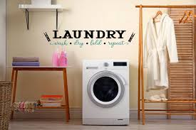 Laundry Room Decor Wall Decal Laundry Room Sign Laundry Sign Laundry Room Art Vinyl Decal Laundry Wall Decor Wash Dry Fold Repeat