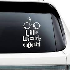Little Wizards On Board Car Sticker Baby Wizard On Board Bumper Stickers Car Stickers Stickers