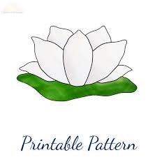 stained glass pattern lotus flower