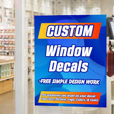 Custom Window Decal Removable Vista Flags