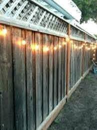 Christmas Lights On Fence Ideas Backyard Lighting Backyard Fences Outdoor Patio Lights