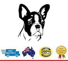 Boston Terrier Kissed L869 8 Dog Window Decal Sticker
