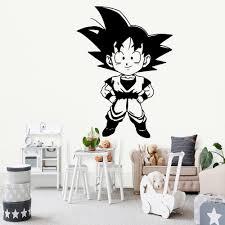 Waliicorners Cartoon Style Dragon Ball Wall Stickers Self Adhesive Art Wallpaper For Children Room Removable Decor Wall Decals Adesivi Murali Waliicorner S Store