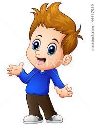 vector ilration of cute boy cartoon