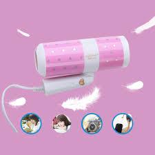 Máy sấy tóc mini tạo kiểu chuyên dụng loại tốt công suất lớn 1000w, có hai  tốc độ, thiết kế nhỏ gọn, treo tường, kiểu dáng dễ thương, cute dùng cho cả