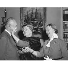 Posterazzi President Eisenhower With Helen Keller And Her Aide ...