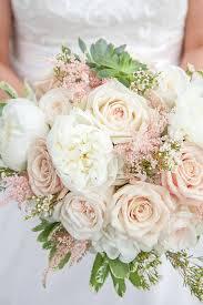bridal bouquet of white garden roses